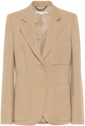 Stella McCartney Eleanor single-breasted twill blazer
