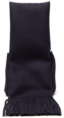 Jil Sander Scarf-handle Felted Handbag - Womens - Navy