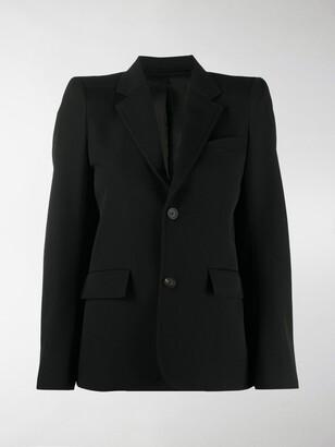 Balenciaga Padded Shoulder Blazer