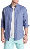 Original Penguin Long Sleeve Jaspe Patch Pocket Slim Fit Shirt