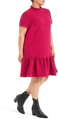 ELOQUII Quilted Texture Dress