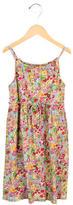 Oscar de la Renta Girls' Floral Print Sleeveless Dress