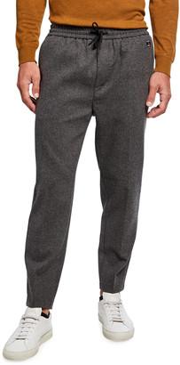 Scotch & Soda Men's Fave Wool-Blend Elastic Waistband Pants