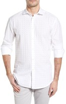 Thomas Dean Men's Classic Fit Fil Coupe Sport Shirt