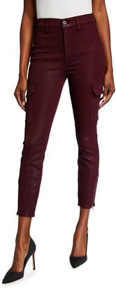 7 For All Mankind Coated Skinny Cargo Pants