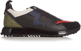 Fendi Lightning-bolt appliqué leather trainers