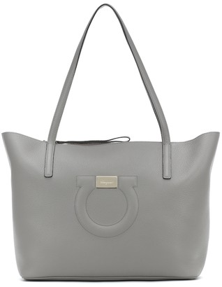 Salvatore Ferragamo Gancini Medium leather tote