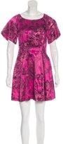 3.1 Phillip Lim Metallic Floral Print Dress