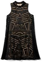 Vince Camuto Geometric Flyaway Dress