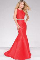 Jovani Mermaid Embellished Belt Prom Dress 49216