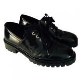 Max Mara Black Leather Flats