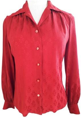 Celine Red Silk Top for Women Vintage