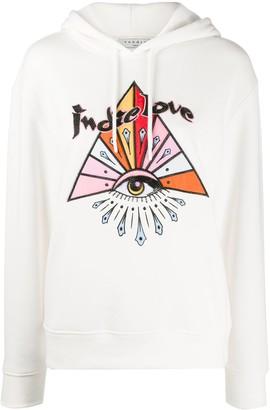 Sandro Paris Indie Love embellished hoodie