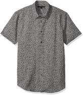 John Varvatos Men's Printed Short Sleeve Slim Fit Shirt