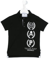 Philipp Plein skull print polo shirt - kids - Cotton - 6 yrs