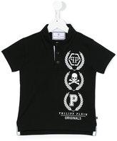 Philipp Plein skull print polo shirt - kids - Cotton - 8 yrs
