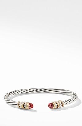 David Yurman Helena End Station Bracelet with Diamonds & 18K Gold, 4mm