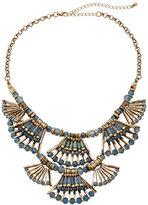 Catherine Stein Gold-Tone & Blue Statement Necklace