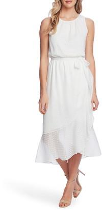 Vince Camuto Asymmetrical Ruffle Sleeveless Midi Dress