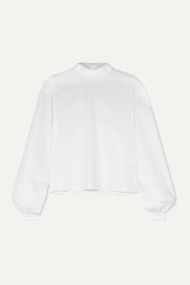 Off-White La Collection - Edwina Reversible Cotton-poplin Shirt