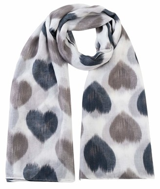 World Of Shawls Heart Print Women Scarf Shawl Wrap Hijab Ladies Long (Mint Blue)