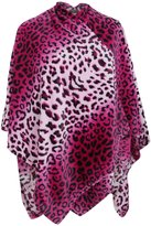 Universal Textiles Womens/Ladies Leopard Print Fleece Winter Pashmina/Wrap