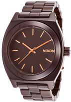 Nixon Women's Ceramic Time Teller Brown Ceramic Dark Brown Dial