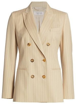 Max Mara Pinstripe Double Breasted Blazer