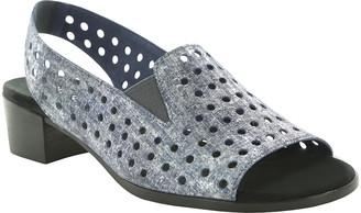 Munro American Shoes Women's Sandals BLUE - Blue Metallic Mickee Leather Sling-Back Sandal - Women
