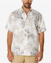Cubavera Men's Big and Tall Tropical Foliage 100% Linen Short-Sleeve Shirt