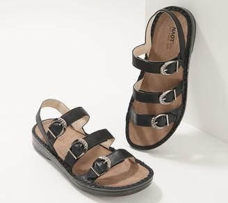 Naot Footwear Leather Adjustable Buckle Sandals- Taviria