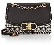 Salvatore Ferragamo Women's Gancini Jacquard Canvas & Leather Shoulder Bag