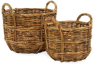 Mainly Baskets Cottage Bushel Baskets Set of 2