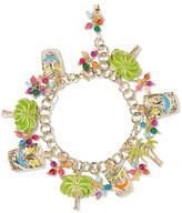 Rosantica Enameled Gold-tone Beaded Charm Bracelet - one size