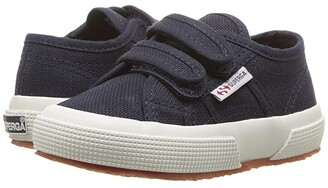 Superga 2750 JVEL (Toddler/Little Kid) (Navy/White) Kid's Shoes