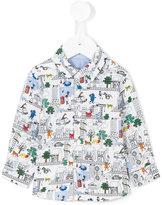 Paul Smith cartoon print shirt - kids - Cotton - 12 mth