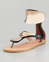 Jeffrey Campbell Congo Sandal, Black/Gold