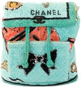 Chanel Pre Owned 1994 textured diamond quilted backpack