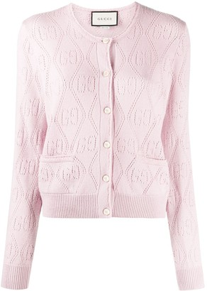 Gucci GG perforated cardigan