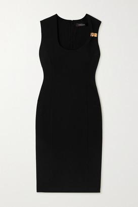 Versace Embellished Cady Midi Dress - Black