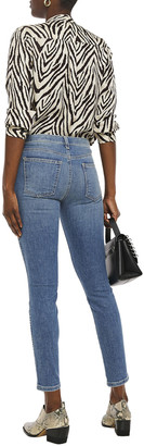 Current/Elliott The Caballo Cropped Faded Mid-rise Skinny Jeans