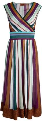 Missoni Sleeveless Lurex Striped Midi Dress