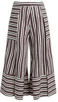 Palmer Harding PALMER//HARDING Contrast-cuff side-slit culottes