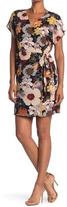 Bobeau Short Sleeve Wrap Mini Dress