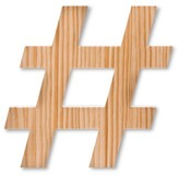 Household Essentials Hand Made Modern - Wooden Hashtag