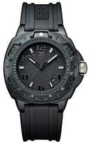 Luminox Sentry 0200 Men's Quartz watch with Black dial featuring LLT light Technology 43 millimeters Carbon Compound case and Black PU Strap XL.0201.BO