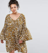 Elvi Animal Print Gypsy Dress