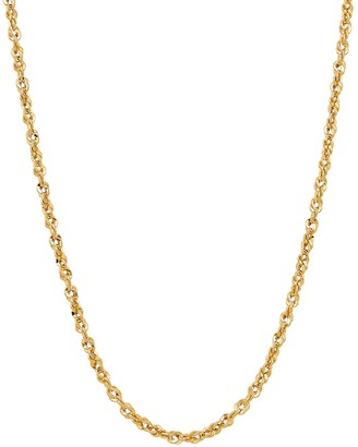Everlasting Gold 14k Gold 2.5 mm Rope Chain Necklace