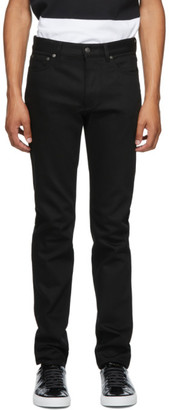 Givenchy Black Raw Edge Slim-Fit Jeans