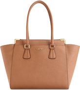Calvin Klein On My Corner Saffiiano Leather Tote